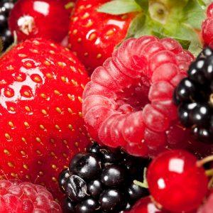photo of fresh strawberries, raspberries, blackberries