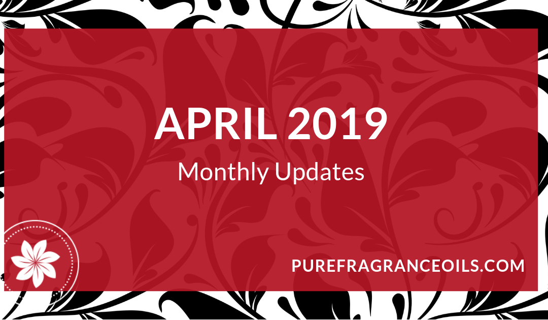 April 2019 – Monthly updates