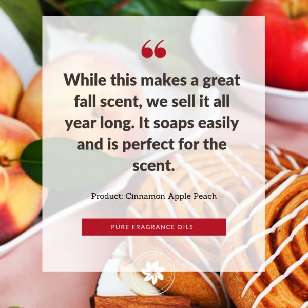 photo of review for cinnamon apple peach fragrance oil