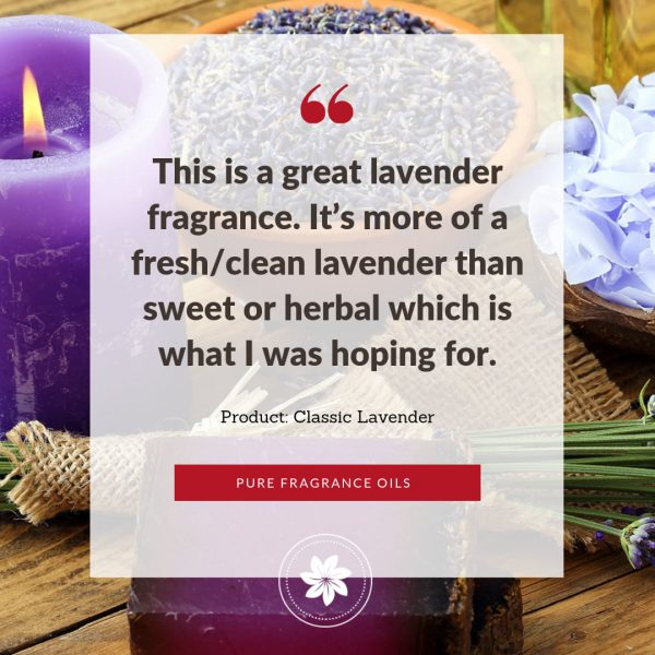 photo of review for classic lavender fragrance oil