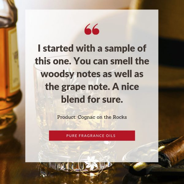 photo of review for cognac on the rocks fragrance oil
