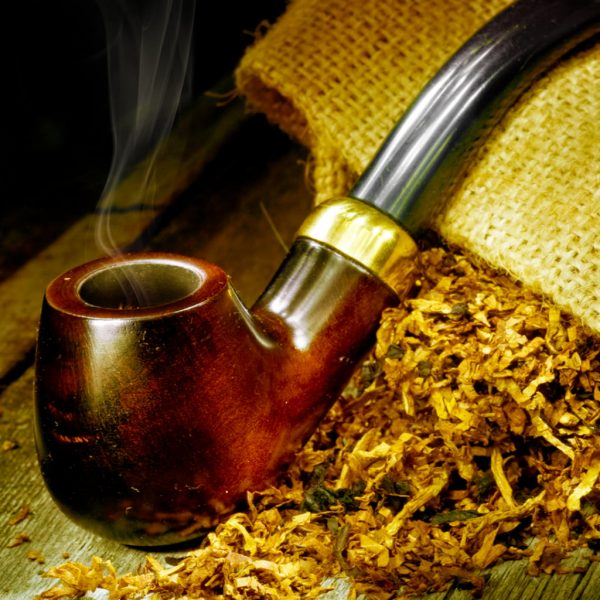 photo of a pipe with tobacco