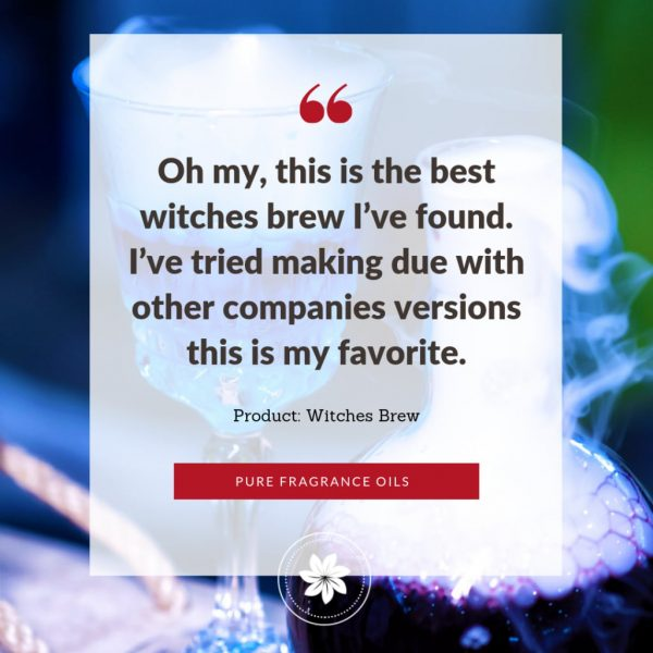 photo of quote for witches brew fragrance oil