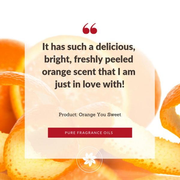 photo of review for orange you sweet fragrance oil